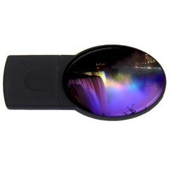 Niagara Falls Dancing Lights Colorful Lights Brighten Up The Night At Niagara Falls USB Flash Drive Oval (1 GB)