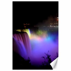 Niagara Falls Dancing Lights Colorful Lights Brighten Up The Night At Niagara Falls Canvas 24  X 36