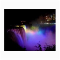 Niagara Falls Dancing Lights Colorful Lights Brighten Up The Night At Niagara Falls Small Glasses Cloth (2 Side)