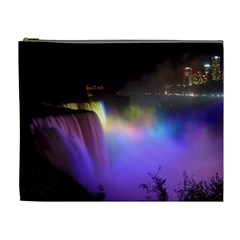 Niagara Falls Dancing Lights Colorful Lights Brighten Up The Night At Niagara Falls Cosmetic Bag (xl)