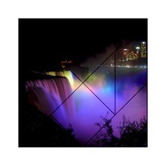 Niagara Falls Dancing Lights Colorful Lights Brighten Up The Night At Niagara Falls Acrylic Tangram Puzzle (6  x 6 )