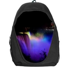 Niagara Falls Dancing Lights Colorful Lights Brighten Up The Night At Niagara Falls Backpack Bag