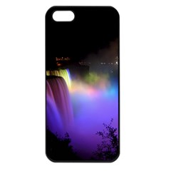 Niagara Falls Dancing Lights Colorful Lights Brighten Up The Night At Niagara Falls Apple iPhone 5 Seamless Case (Black)