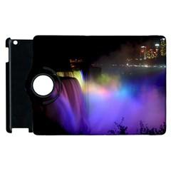 Niagara Falls Dancing Lights Colorful Lights Brighten Up The Night At Niagara Falls Apple Ipad 2 Flip 360 Case