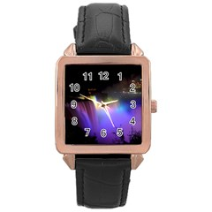 Niagara Falls Dancing Lights Colorful Lights Brighten Up The Night At Niagara Falls Rose Gold Leather Watch
