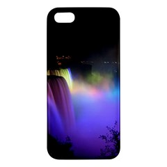 Niagara Falls Dancing Lights Colorful Lights Brighten Up The Night At Niagara Falls Apple iPhone 5 Premium Hardshell Case