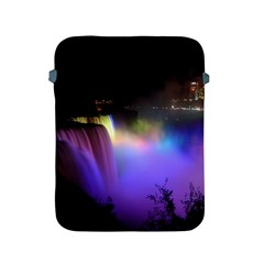Niagara Falls Dancing Lights Colorful Lights Brighten Up The Night At Niagara Falls Apple iPad 2/3/4 Protective Soft Cases