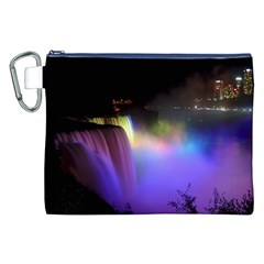 Niagara Falls Dancing Lights Colorful Lights Brighten Up The Night At Niagara Falls Canvas Cosmetic Bag (XXL)