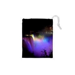 Niagara Falls Dancing Lights Colorful Lights Brighten Up The Night At Niagara Falls Drawstring Pouches (XS)