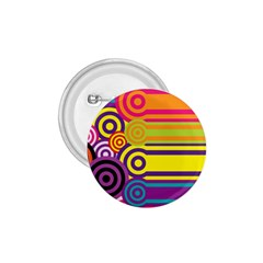 Retro Circles And Stripes Colorful 60s And 70s Style Circles And Stripes Background 1.75  Buttons