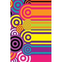 Retro Circles And Stripes Colorful 60s And 70s Style Circles And Stripes Background 5 5  X 8 5  Notebooks