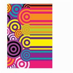Retro Circles And Stripes Colorful 60s And 70s Style Circles And Stripes Background Large Garden Flag (two Sides)
