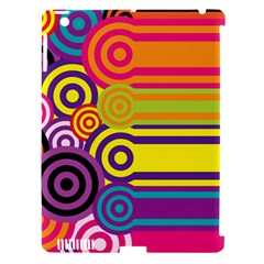 Retro Circles And Stripes Colorful 60s And 70s Style Circles And Stripes Background Apple Ipad 3/4 Hardshell Case (compatible With Smart Cover)