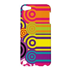 Retro Circles And Stripes Colorful 60s And 70s Style Circles And Stripes Background Apple iPod Touch 5 Hardshell Case