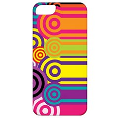 Retro Circles And Stripes Colorful 60s And 70s Style Circles And Stripes Background Apple iPhone 5 Classic Hardshell Case