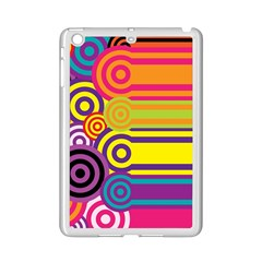 Retro Circles And Stripes Colorful 60s And 70s Style Circles And Stripes Background iPad Mini 2 Enamel Coated Cases