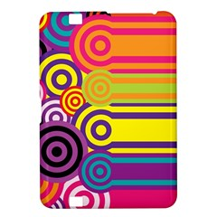 Retro Circles And Stripes Colorful 60s And 70s Style Circles And Stripes Background Kindle Fire HD 8.9