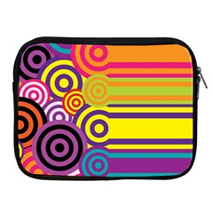 Retro Circles And Stripes Colorful 60s And 70s Style Circles And Stripes Background Apple iPad 2/3/4 Zipper Cases