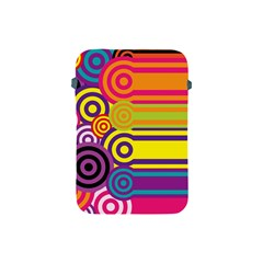 Retro Circles And Stripes Colorful 60s And 70s Style Circles And Stripes Background Apple iPad Mini Protective Soft Cases