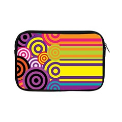 Retro Circles And Stripes Colorful 60s And 70s Style Circles And Stripes Background Apple iPad Mini Zipper Cases