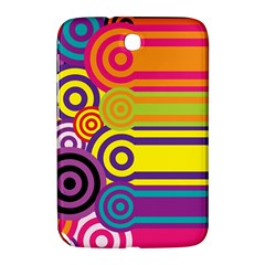 Retro Circles And Stripes Colorful 60s And 70s Style Circles And Stripes Background Samsung Galaxy Note 8.0 N5100 Hardshell Case