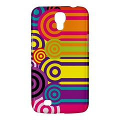 Retro Circles And Stripes Colorful 60s And 70s Style Circles And Stripes Background Samsung Galaxy Mega 6.3  I9200 Hardshell Case