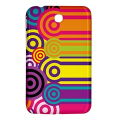 Retro Circles And Stripes Colorful 60s And 70s Style Circles And Stripes Background Samsung Galaxy Tab 3 (7 ) P3200 Hardshell Case