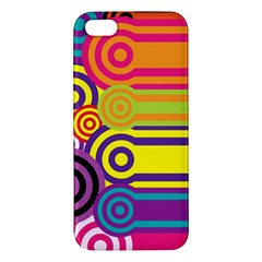 Retro Circles And Stripes Colorful 60s And 70s Style Circles And Stripes Background Iphone 5s/ Se Premium Hardshell Case