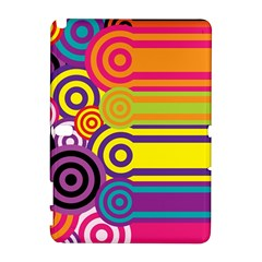 Retro Circles And Stripes Colorful 60s And 70s Style Circles And Stripes Background Galaxy Note 1