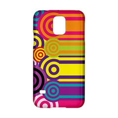 Retro Circles And Stripes Colorful 60s And 70s Style Circles And Stripes Background Samsung Galaxy S5 Hardshell Case