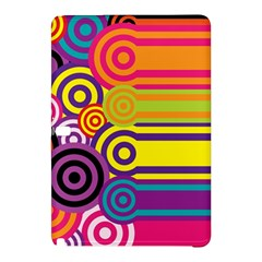 Retro Circles And Stripes Colorful 60s And 70s Style Circles And Stripes Background Samsung Galaxy Tab Pro 12 2 Hardshell Case