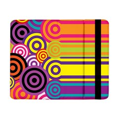 Retro Circles And Stripes Colorful 60s And 70s Style Circles And Stripes Background Samsung Galaxy Tab Pro 8.4  Flip Case