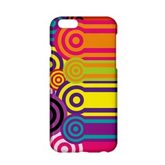Retro Circles And Stripes Colorful 60s And 70s Style Circles And Stripes Background Apple iPhone 6/6S Hardshell Case