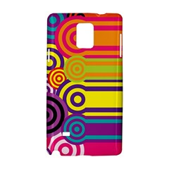 Retro Circles And Stripes Colorful 60s And 70s Style Circles And Stripes Background Samsung Galaxy Note 4 Hardshell Case