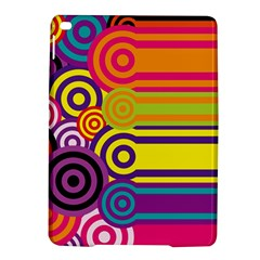 Retro Circles And Stripes Colorful 60s And 70s Style Circles And Stripes Background iPad Air 2 Hardshell Cases