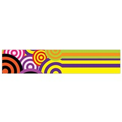 Retro Circles And Stripes Colorful 60s And 70s Style Circles And Stripes Background Flano Scarf (small)