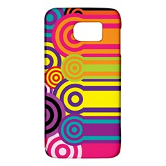 Retro Circles And Stripes Colorful 60s And 70s Style Circles And Stripes Background Galaxy S6