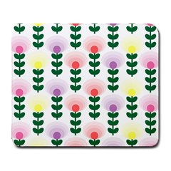 Floral Wallpaer Pattern Bright Bright Colorful Flowers Pattern Wallpaper Background Large Mousepads