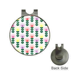 Floral Wallpaer Pattern Bright Bright Colorful Flowers Pattern Wallpaper Background Hat Clips With Golf Markers