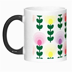 Floral Wallpaer Pattern Bright Bright Colorful Flowers Pattern Wallpaper Background Morph Mugs