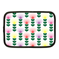 Floral Wallpaer Pattern Bright Bright Colorful Flowers Pattern Wallpaper Background Netbook Case (medium)