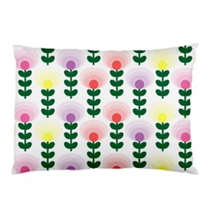Floral Wallpaer Pattern Bright Bright Colorful Flowers Pattern Wallpaper Background Pillow Case