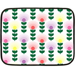 Floral Wallpaer Pattern Bright Bright Colorful Flowers Pattern Wallpaper Background Fleece Blanket (mini)