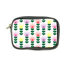 Floral Wallpaer Pattern Bright Bright Colorful Flowers Pattern Wallpaper Background Coin Purse