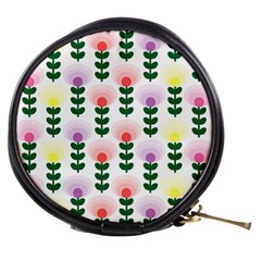 Floral Wallpaer Pattern Bright Bright Colorful Flowers Pattern Wallpaper Background Mini Makeup Bags