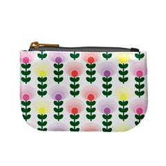 Floral Wallpaer Pattern Bright Bright Colorful Flowers Pattern Wallpaper Background Mini Coin Purses