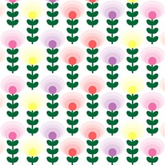 Floral Wallpaer Pattern Bright Bright Colorful Flowers Pattern Wallpaper Background Magic Photo Cubes