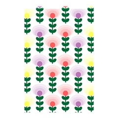 Floral Wallpaer Pattern Bright Bright Colorful Flowers Pattern Wallpaper Background Shower Curtain 48  X 72  (small)