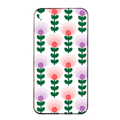 Floral Wallpaer Pattern Bright Bright Colorful Flowers Pattern Wallpaper Background Apple iPhone 4/4s Seamless Case (Black)