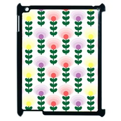 Floral Wallpaer Pattern Bright Bright Colorful Flowers Pattern Wallpaper Background Apple iPad 2 Case (Black)